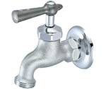 Central Brass 0009-H1/2C - Rough Chrome Wall Mounted Single Water Supply Faucet with Hose Thread Outlet. Includes Cold Water Lever Handle & 1/2-14 NPS female threads