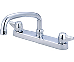 Central Brass 0120-A - Cast Brass Top Mount Kitchen Faucet on 8-inch centers