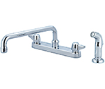 Central Brass 0121-A3 - KITCHEN SINK TOPMOUNT H&S 1/2M PIPE