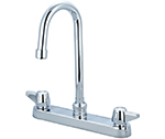 Central Brass 0122-GSA - Cast Brass Top Mount Kitchen Faucet on 8-inch centers