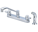 Central Brass 0123-A - Cast Brass Top Mount Kitchen Faucet