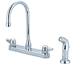 Central Brass 0123-KSA - KITCHEN SINK TOPMOUNT H&S 1/2M PIPE