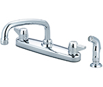 Central Brass 0147-A - KITCHEN SINK SHELL TOPMT H&S 1/2-M