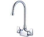 Central Brass 0285-A-Q - Single Hole Mount Two Handle Bar/Pantry Faucet with Gooseneck Spout