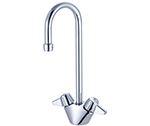 Central Brass 0289-A - DOUBLE BAR FAUCET W/RIGID GOOSENECK