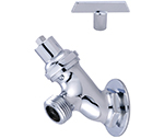 Central Brass 0576-1/2CP - LAWN FAUCET 1/2 FML PIPE W/LOCK CP
