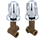 Central Brass 1240 - SHOWER VALVES HOT & COLD 1/2-F PIPE