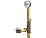 Central Brass 1655 - Multi-Tub Trip Lever with heavy pattern cast brass tee and top ell, adjustable for 14 to 16-inch tubs