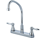 Central Brass 80122-TSA1L2 - Two Handle Cast Brass Kitchen Faucet with Tri-Arc Spout and Lever Handles