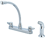 Central Brass 80123-A07 - KITCHEN SINK TOPMOUNT H&S CERAMIC