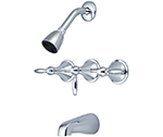 Central Brass 80868-L3 - Three Handle Tub & Shower Set with Lever Handles