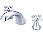 Central Brass 81172-12AC1 - Polished Chrome Two Handle Widespread Lavatory Faucet with Cross Handles