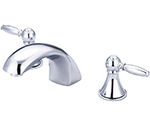 Central Brass 81172-12AL1 - Polished Chrome Two Handle Widespread Lavatory Faucet with Lever Handles